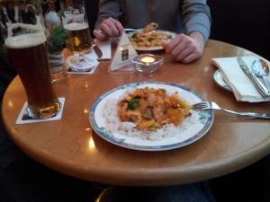 Essen im Hotel vorm Lauf statt Pastaparty