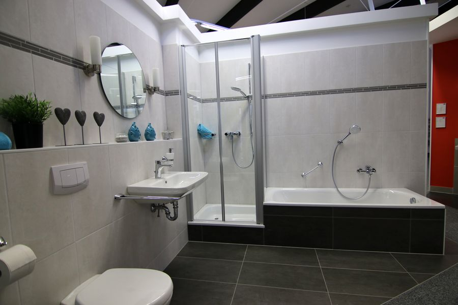 Badezimmerdesigns in der Ausstellung